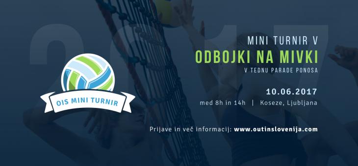 Vabilo na OIS mini turnir v odbojki na mivki 2017